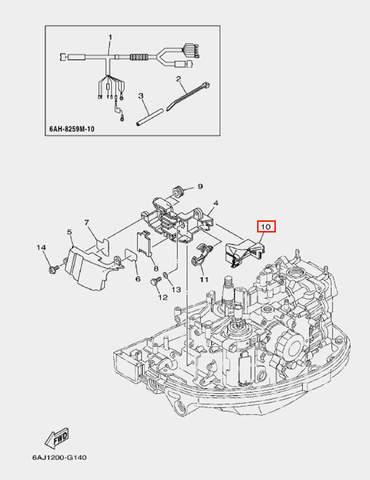 Демпфер для лодочного мотора F20 Sea-PRO (14-10)