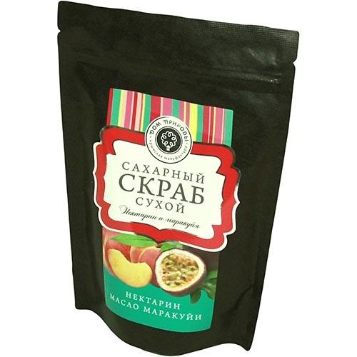 Сухой сахарный скраб для тела НЕКТАРИН И МАРАКУЙЯ, 250г
