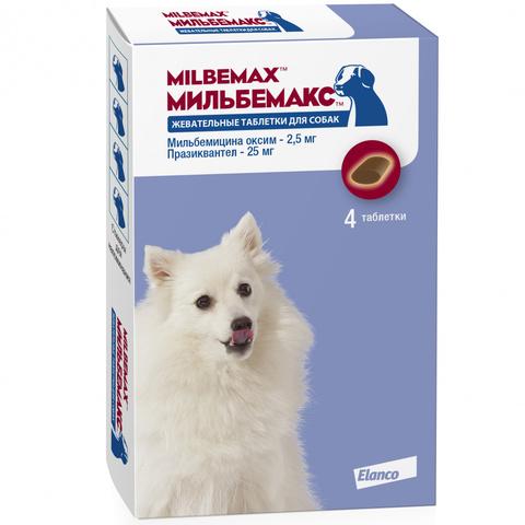 Мильбемакс жевательные таблетки для маленьких собак и щенков (по 1 таблетке)