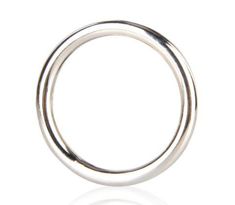 Стальное эрекционное кольцо на член BlueLine (5,2 см.)