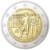 Австрия 2016 год 2 евро, 200 лет Банку  UNC из ролла