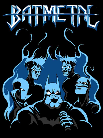 Футболка Batmetal - Bat-family - XL