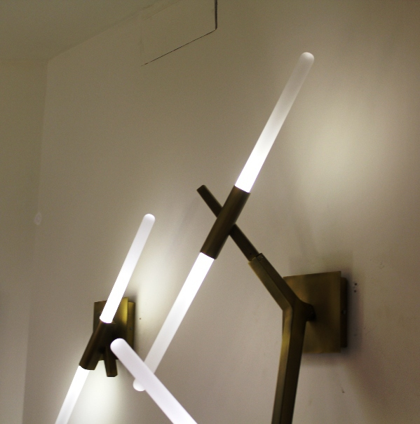 Replica roll and hill agnes sconce 2 designed by lindsey adelman