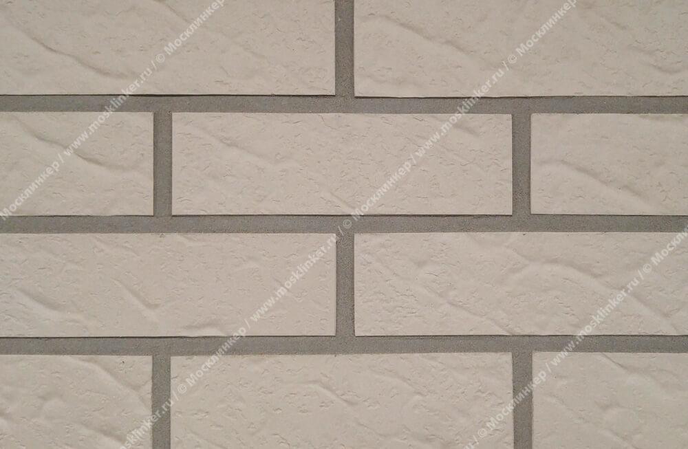 Roben - Island, perlweiss, NF14, 240x14x71, рельефная - Клинкерная плитка для фасада и внутренней отделки