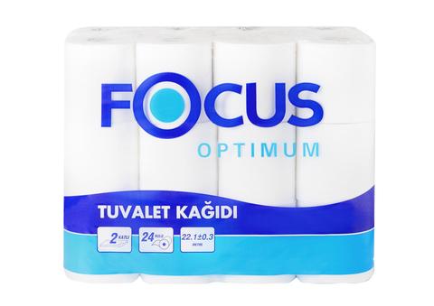 Туалетная бумага Focus OPTIMUM  2сл. 22м,  бел. 4рул/уп 1/14