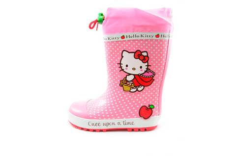 Резиновые сапоги для девочек утепленные Хелло Китти (Hello Kitty), цвет розовый. Изображение 3 из 11.