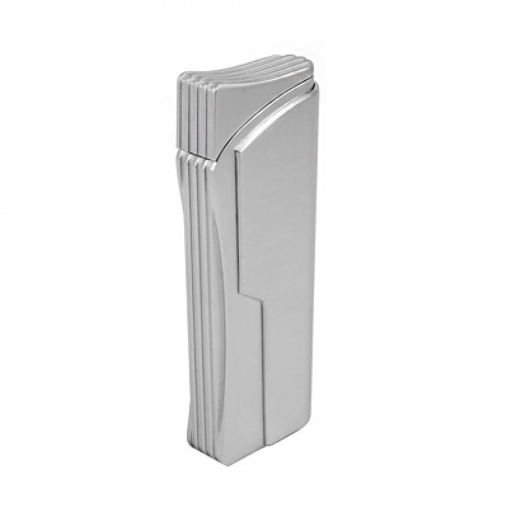 Зажигалка Pierre Cardin газовая турбо, цвет хром, 2,9х1,2х7,8см