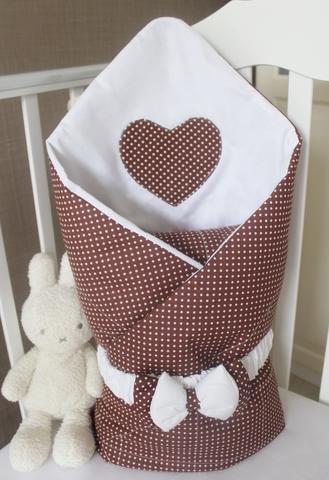 Летнее одеяло - конверт на выписку Горошинка, белая