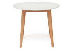 Стол обеденный раскладной Боско (BOSCO) (Боско) — Белый+Натуральный ( Бук)