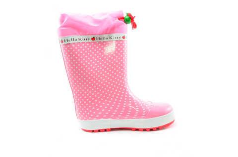 Резиновые сапоги для девочек утепленные Хелло Китти (Hello Kitty), цвет розовый. Изображение 2 из 11.