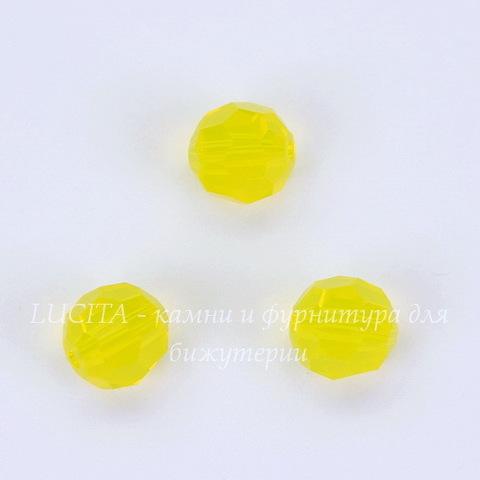 5000 Бусина - шарик с огранкой Сваровски Yellow Opal 6 мм
