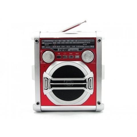 Радиоприемник NS-259U + фонарь, MP3/FM/MicroSD/USB, встроенный аккумулятор, (2xR20)