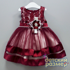 Платье 92-110 (пайетки,сетка)