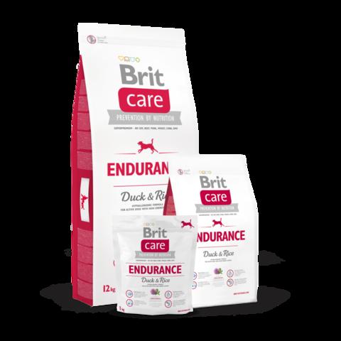 Brit Care Endurance Сухой корм для активных собак всех пород Утка и Рис