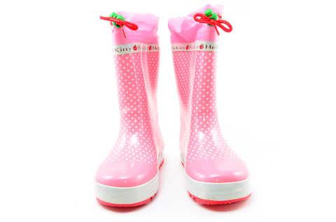 Резиновые сапоги для девочек утепленные Хелло Китти (Hello Kitty), цвет розовый. Изображение 4 из 11.