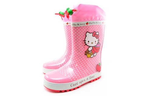 Резиновые сапоги для девочек утепленные Хелло Китти (Hello Kitty), цвет розовый. Изображение 5 из 11.
