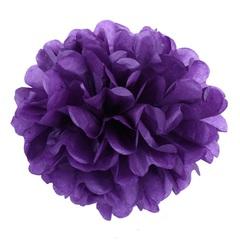 Помпон из бумаги, 30 см, фиолетовый