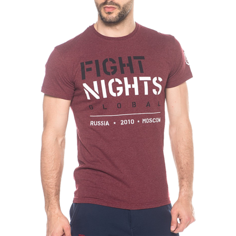 Футболка Fight Nights Global бордовая