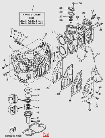 Прокладка двигателя для лодочного мотора Т30 Sea-PRO (2-41)