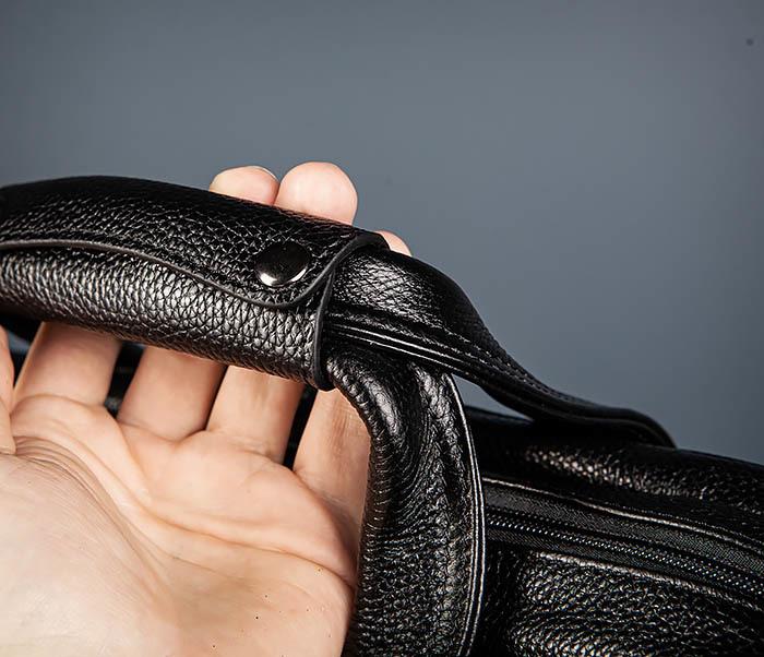 BAG490-1 Мужской портфель из натуральной кожи черного цвета фото 06