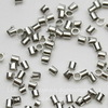 Кримпы - зажимные бусины - трубочки 1,5-1,8 мм (цвет - никель), 2 гр (примерно 320 штук)