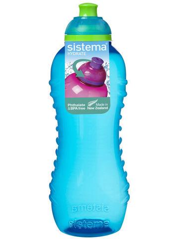 Детская бутылка для воды Sistema, голубая 460 мл