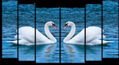 """Модульная картина """"Белое озеро"""""""