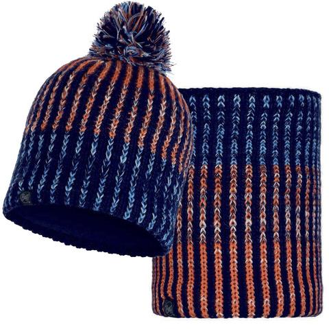 Комплект шапка-шарф Buff Iver Medieval Blue
