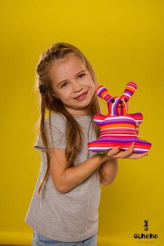 Подушка-игрушка «Розовая Полосатая Зая»-2