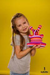 Подушка-игрушка антистресс «Розовая Полосатая Зая» 2