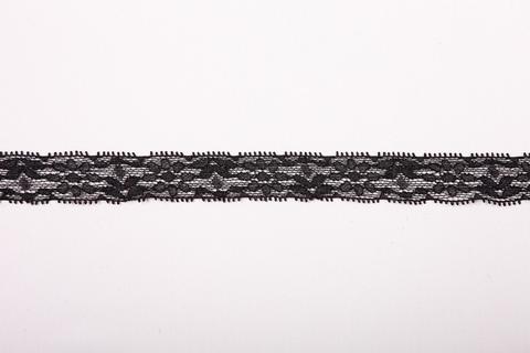 Кружево эластичное чёрное 2 см