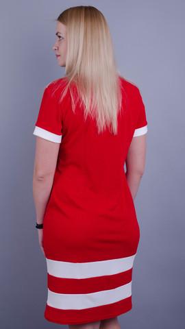 Шанель лето. Платья больших размеров. Красный.