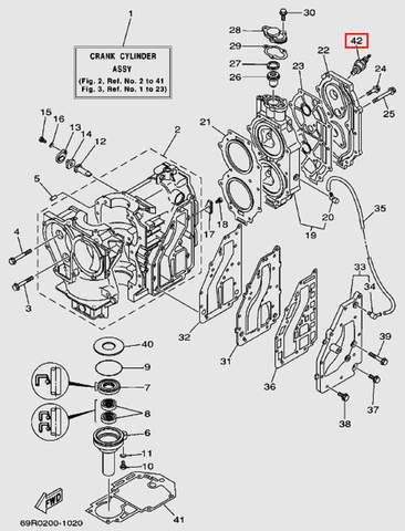 Свеча зажигания BR8HS 10 для лодочного мотора Т30 Sea-PRO (2-42)