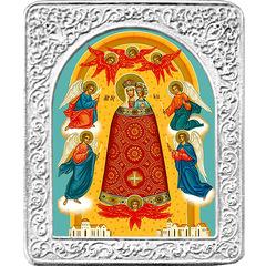 Прибавление ума. Маленькая икона Божьей Матери в серебряной раме.