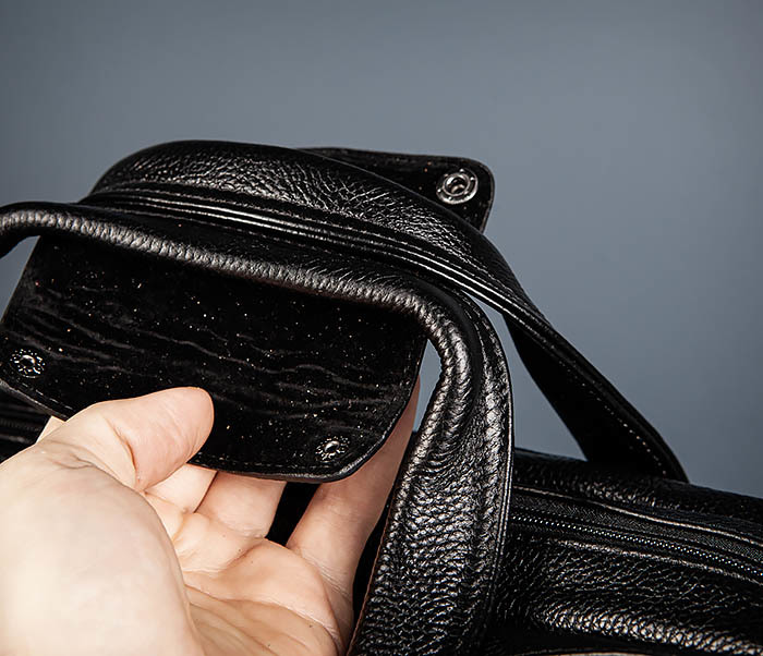 BAG490-1 Мужской портфель из натуральной кожи черного цвета фото 07