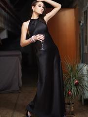 P323-9 платье вечернее женское, черное