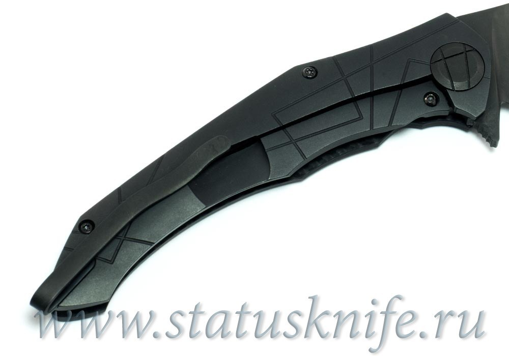 CKF Asymmetric Maxi DLC folder (Alexey Konygin design, S90V, titanium, CF)