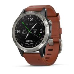 Умные авиационные часы Garmin D2 Delta 010-01988-31 с кожаным ремешком