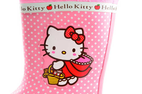 Резиновые сапоги для девочек утепленные Хелло Китти (Hello Kitty), цвет розовый. Изображение 9 из 11.