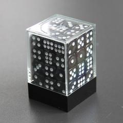 Набор шестигранных кубиков черный (36 штук)