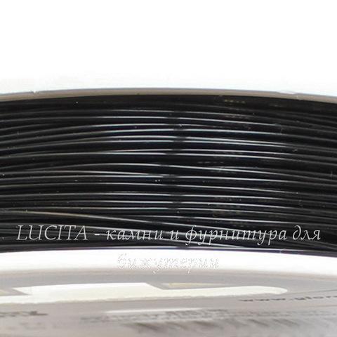 Нить нейлоновая 0,4 мм, цвет - черный, 50 м