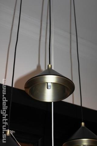 Bert Frank Shear Pendant Black & Brass pendant