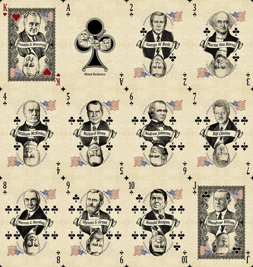 Карты Bicycle Presidents с президентами