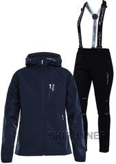 Женский лыжный утепленный костюм 8848 Altitude Snake Navy 17 Nordski Premium