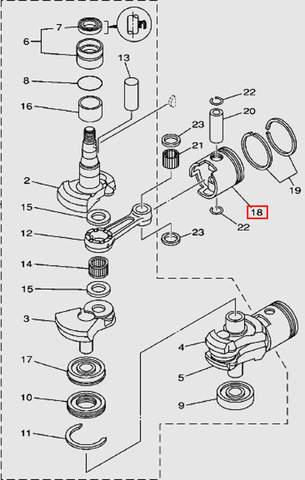 Поршень для лодочного мотора Т30 Sea-PRO (3-18)