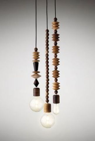 Bright Beads - 3 Cluster - Pendant lights