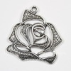 "Подвеска ""Роза"" 28х26 мм (цвет - античное серебро)"