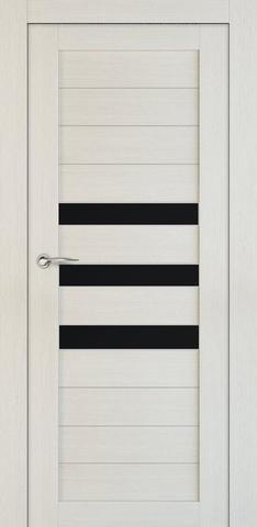 > Экошпон ЛесКом Техно-7, стекло чёрное, цвет лиственница, остекленная