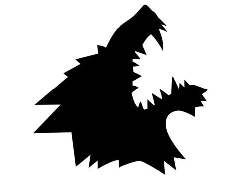 Стикер Волк