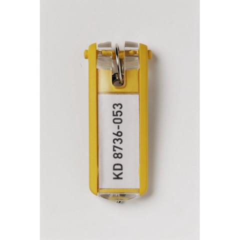 Метал.Мебель DURABLE 1957-04 набор из 6 брелоков желтый
